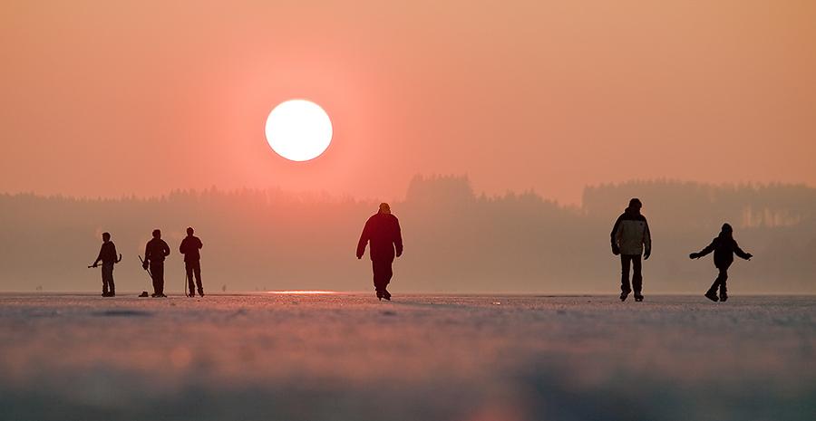 Eislaufen auf dem Wörthsee
